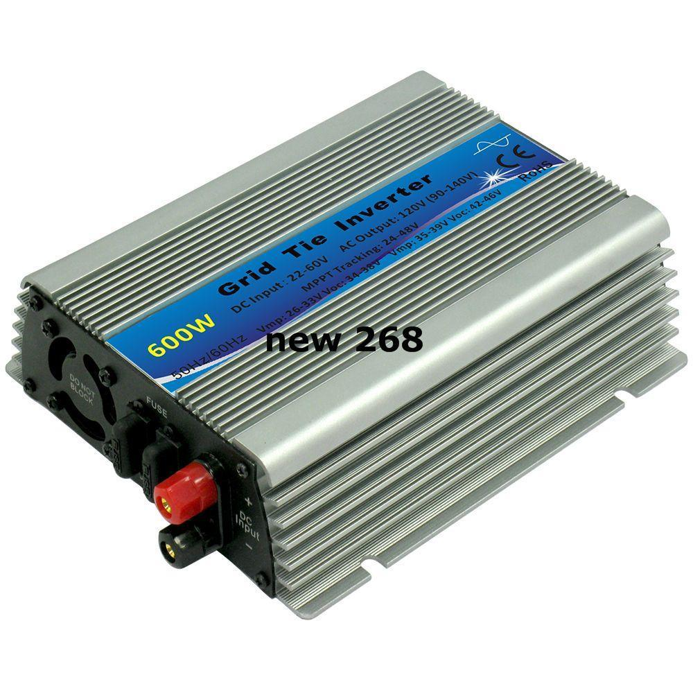 Freeshipping mppt 600W solar power on grid tie micro inverters pure sine wave 22-60V DC to120V or 230V AC