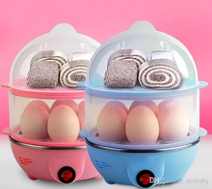 Multi-function Electric Egg Cooker for up to 7 Eggs Double Layer Cooker Boiler Steamer Cooking Tools Kitchen Utensil