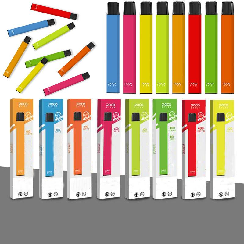 New Packaging POCO Stick Disposable Device Pods 300mAh Battery 1.4ml Capacity POCO Stick 8 Colors Empty Vape Cartridge
