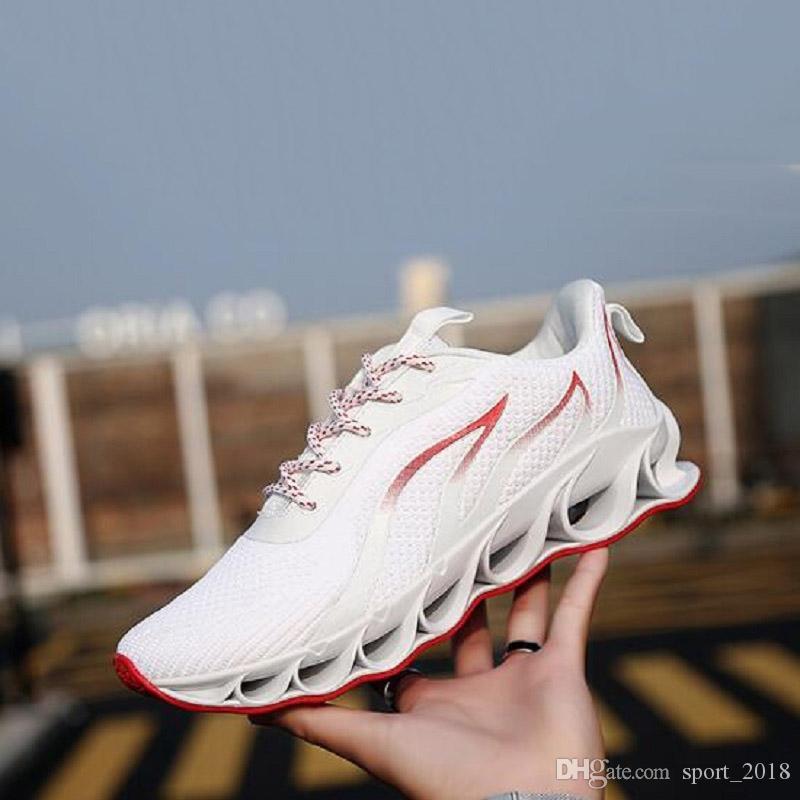 Бесплатная доставка Запуск Повседневная обувь для мужчин Оригинальный дизайнер черный белый красный открытый дышащий SOLF подушку мужские тренеры спортивных кроссовок