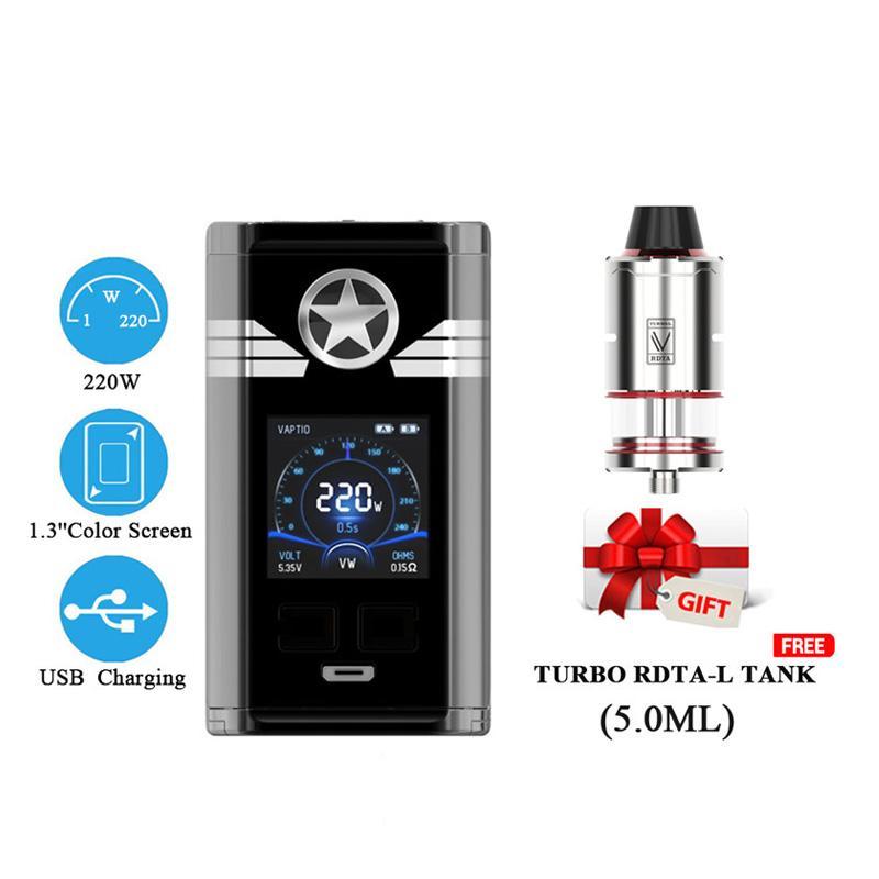 Popüler 220W Vape mod Orijinal Vaptio capt'n MOD Elektronik Sigara E Çığ Kutusu MOD destek 18.650 batarya pil