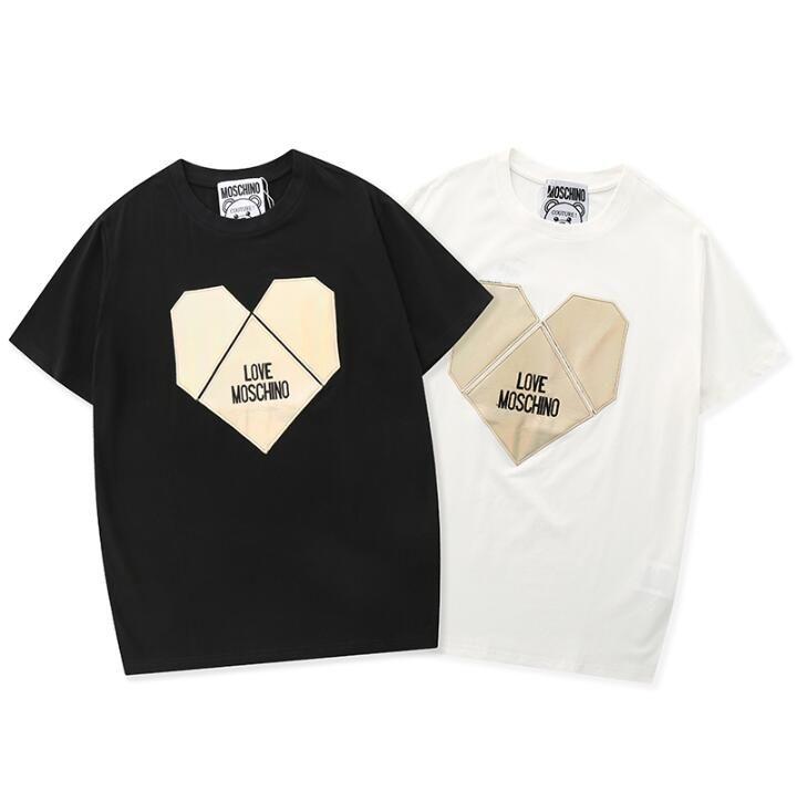 Moda maglietta 2020 lettera geometrica priting t-shirt in cotone uomini e donne camicie o collo unisex mens maglietta casuale ragazze manica corta Q57