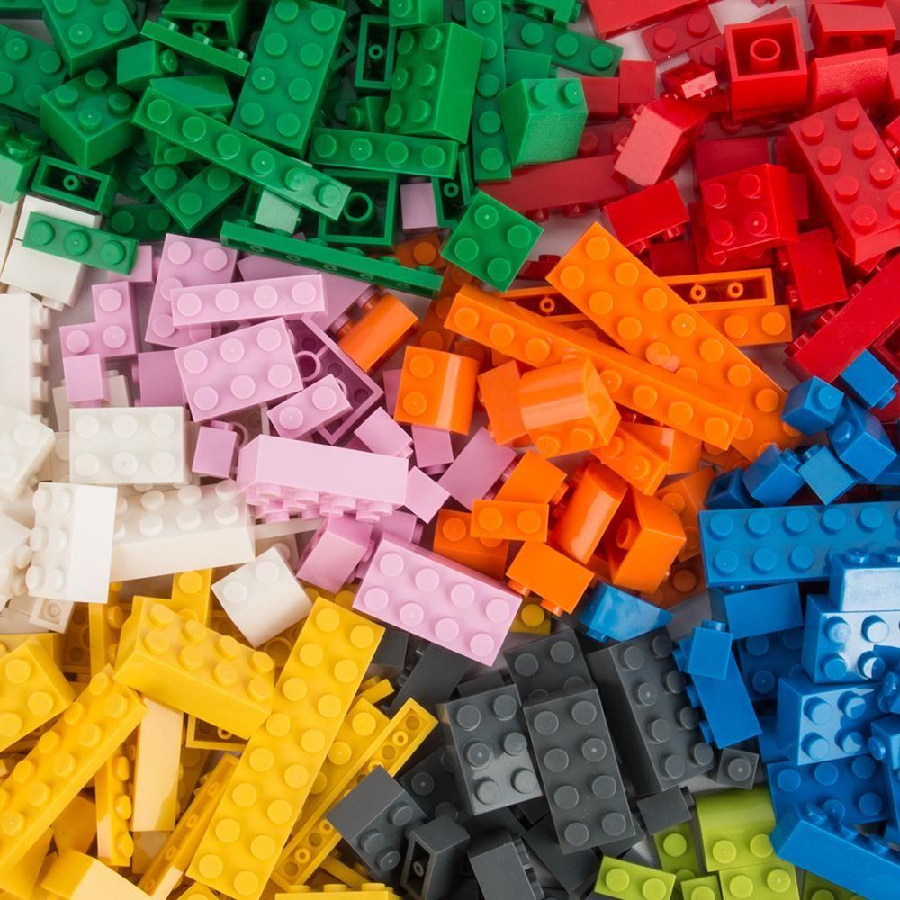 100 Pièces blocs de construction Briques Ville de bricolage en vrac Creative modèle Figures Enfants Jouets éducatifs Compatible Toutes les marques