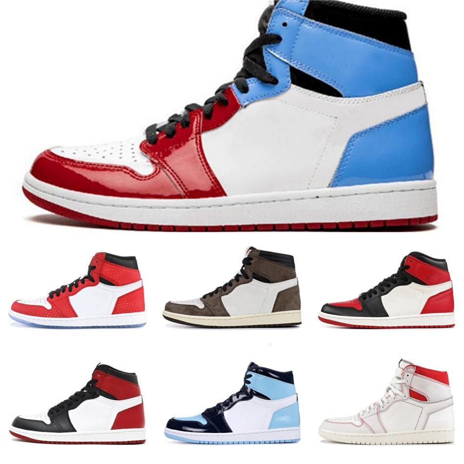 1 zapatos de baloncesto de línea de sangre de las mujeres para hombre de alta 1S Og ¿Quién dijo que hombre no destinados a volar Wsmwnmtf Gimnasio Rojo Jumpman diseñador zapatillas de deporte # QA192