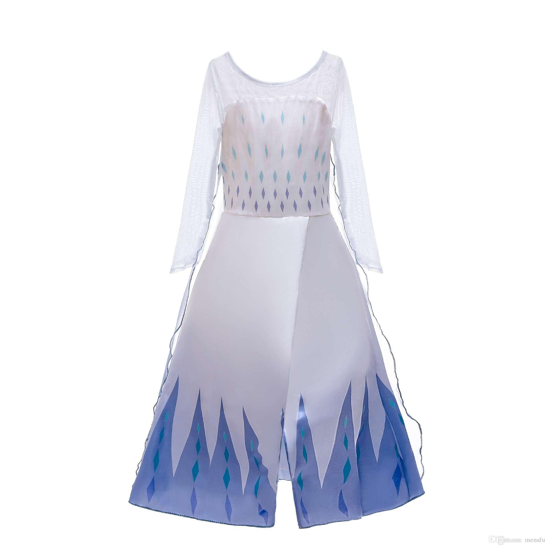 2020 лед и снег край 2 Платье принцессы новая девушка Айша Принцесса детское платье замороженное платье E200333