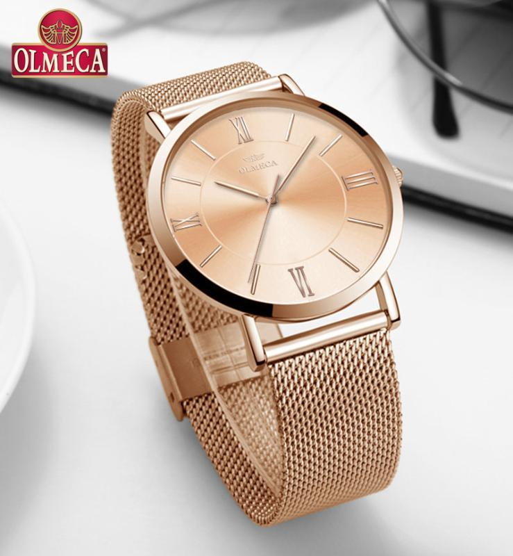 OLMECA Top-Marken-Frauen Uhren Armbanduhr Uhr-Mode-30m Wasserdicht Tropfen-Shipping Sportuhren