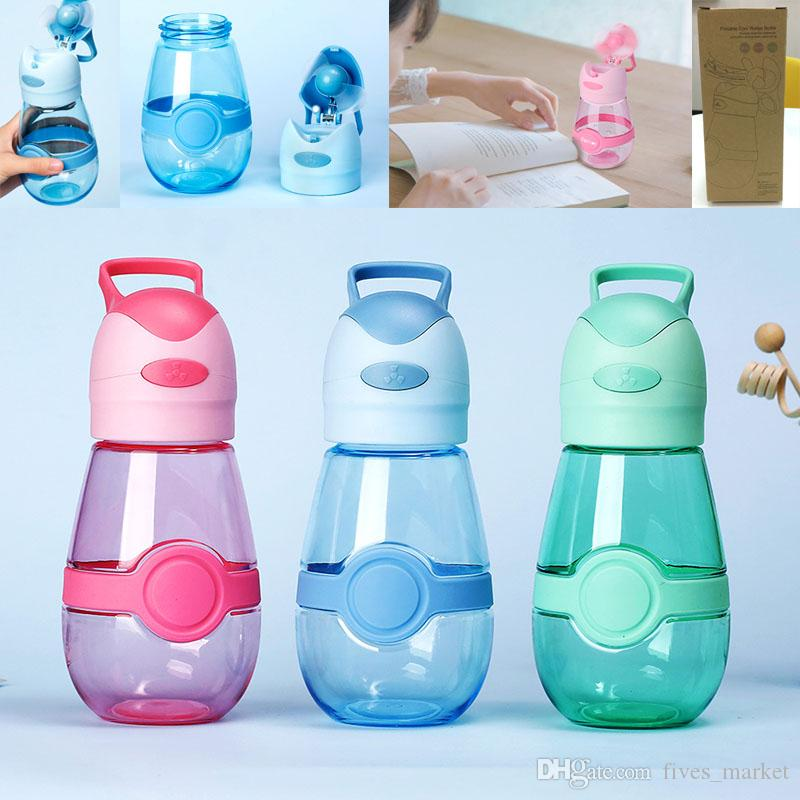 301-400ml Cooling Fan Cup Water Bottle BPA Portable Insulated Outdoor Sport Travel Mug Cup USB Charger 3Colors HH7-1084