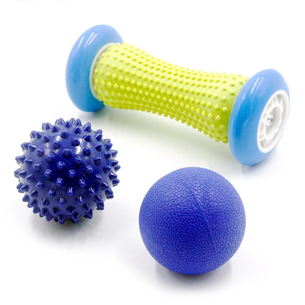Roller Fitness mano della sfera di massaggio plantare Foot Massage con Spiky sfera per mano gamba indietro Terapia del dolore trigger punto di ripristino