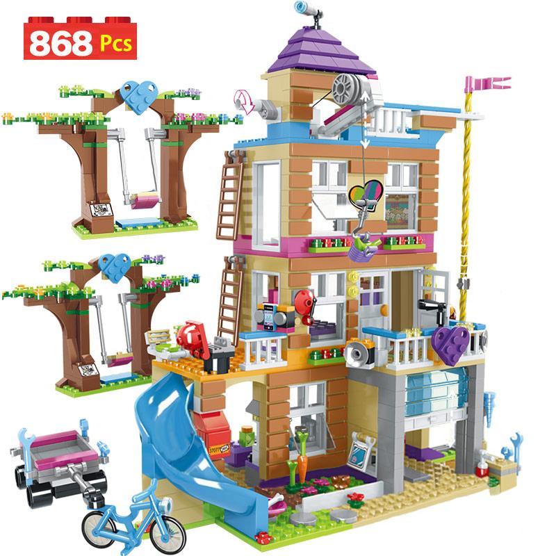 868pcs Bausteine Mädchen Friendship House Stacking Bricks unterstützte Lepining Mädchen Freunde, Kinder Spielzeug für Kinder CX200612