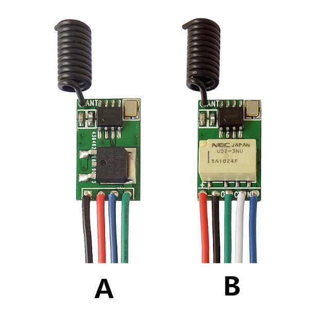 Wireless remote control switch / wireless receiving module / remote control board / mini type wide voltage 3.7V ~ 18V
