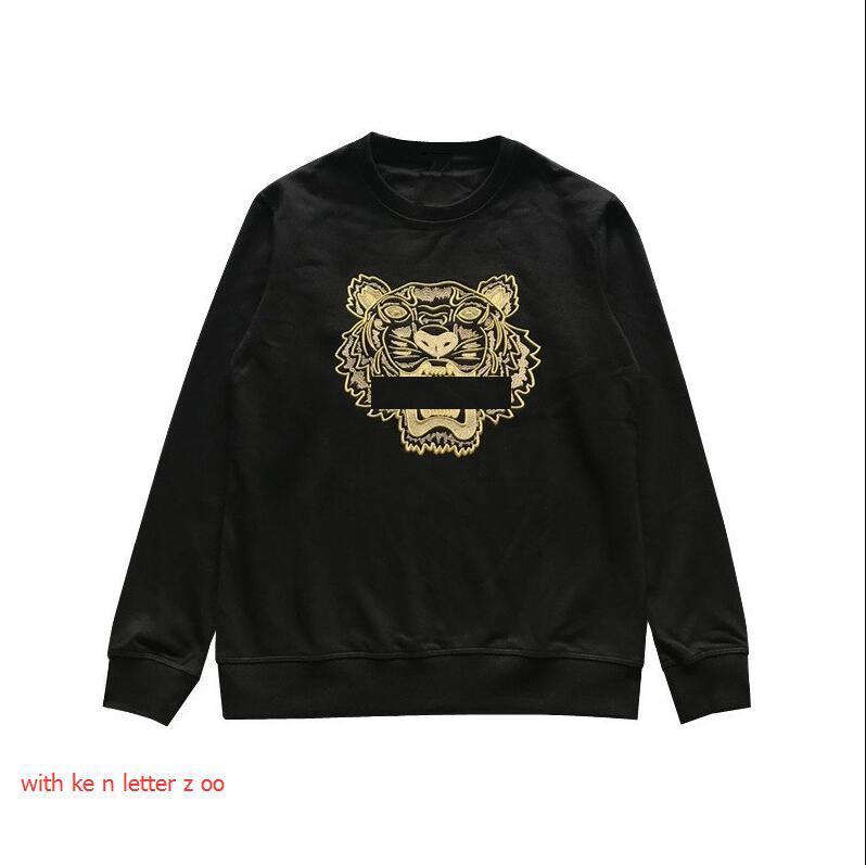 Новая мужская толстовка Толстовка Streetwear вышивки марка 2020 Новый Hoodie Мужчины Женщины Высокое качество Тайгер Patterns Толстовка