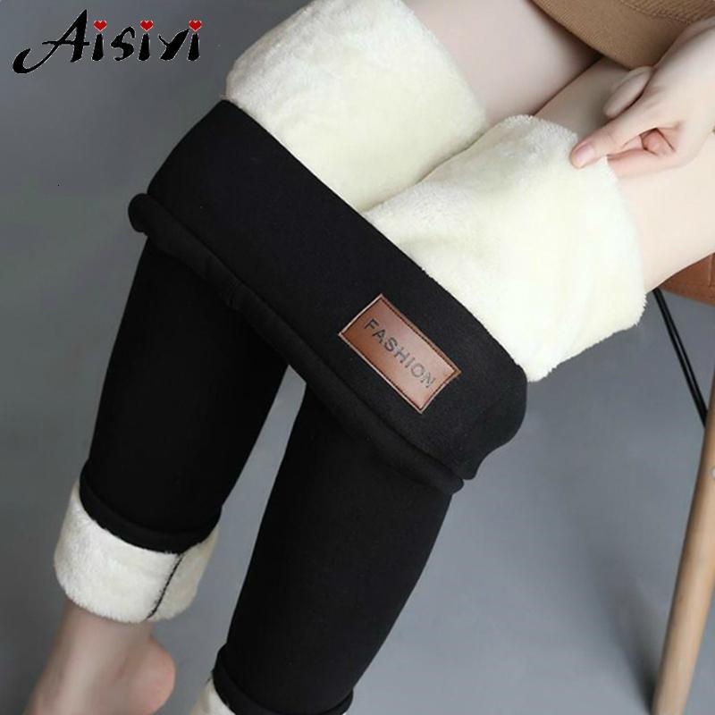 Kadınlar Flanel Pantolon 5XL Artı boyutu Siyah Kalın Kadife Kızlar Tozluklar V191111 Kış Tozluklar Kadınlar Yüksek Waisted Kış Pantolon Isınma