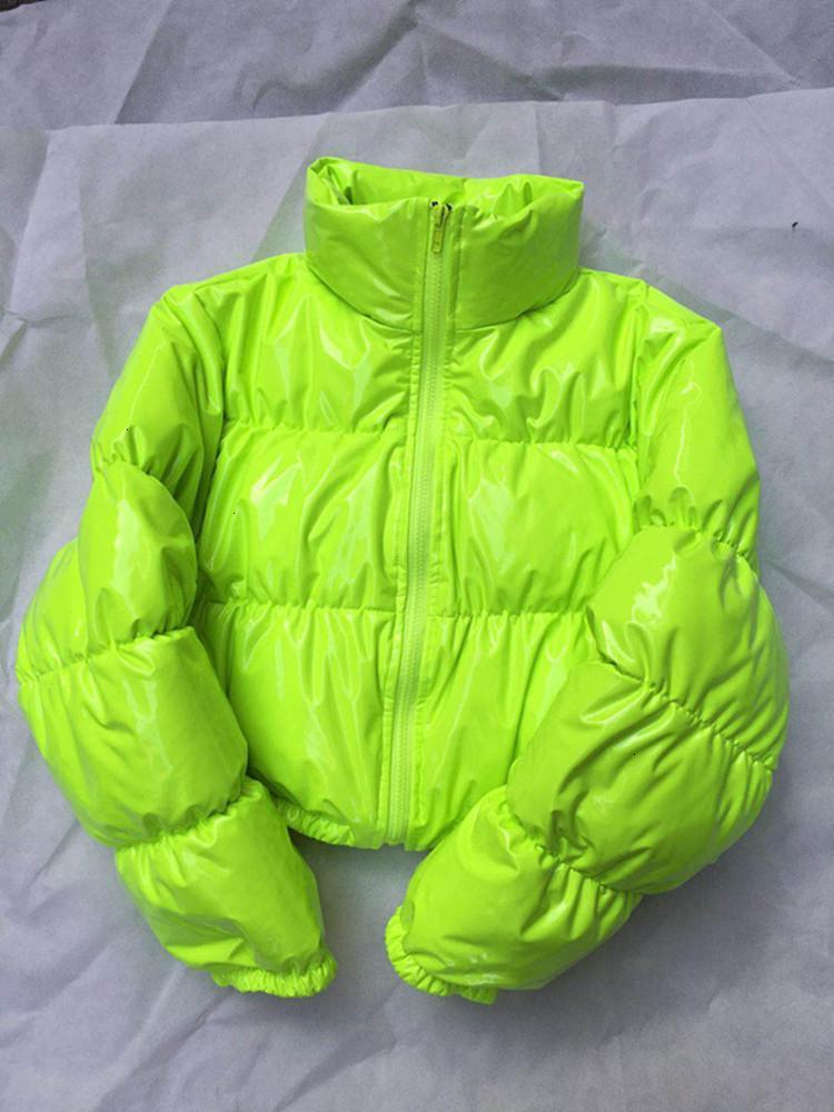 Burbuja Puffer Jacket 2019 Abrigo de invierno de las mujeres rosa verde lima Amarillo Negro Rojo DT191104
