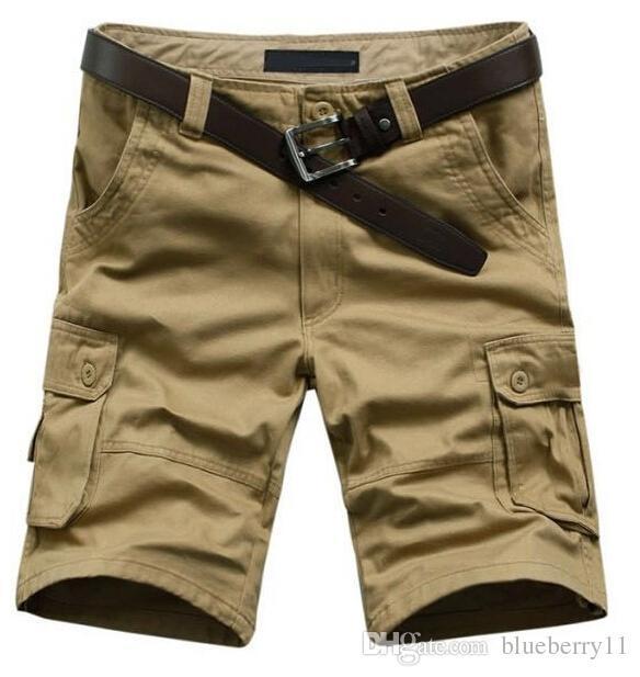 Venda quente de Verão do Exército Cargo Trabalho Casuais Bermuda Shorts Homens Moda Esportes Geral Esquadrão Combate Calças Plus Size 29-38