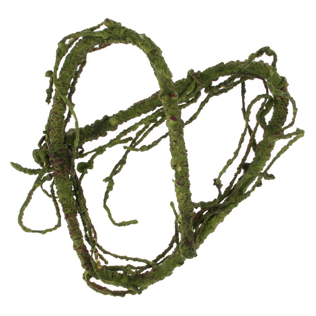 Рептилии Tank Vine Альпинист джунглей Лес Bend Искусственный Branch Террариум Клетка украшения