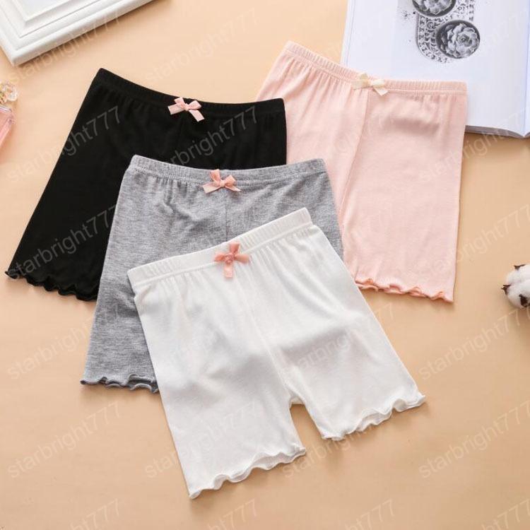 Été Modal Pantalons Jambières de sécurité Fille enfants antilumière Out Pants trois points Bow bébé Shorts Collants Mode Vêtements pour enfants