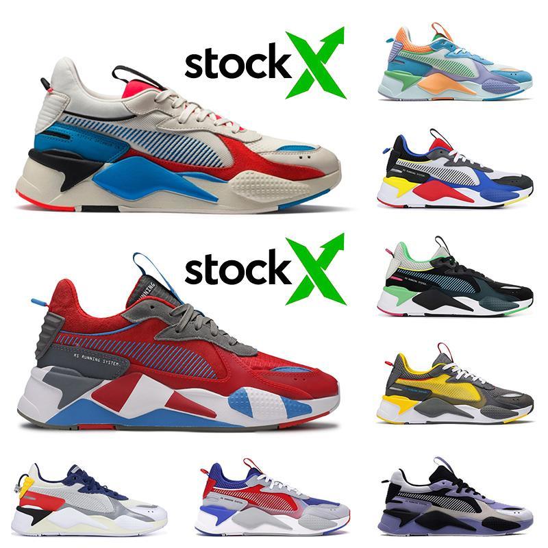 2020 Diseñador PumaRs-x mujeres hombres zapatos para correr RS Red Steel X Motorsport Reinvención gris Indigo Juguetes verde irlandesa formadores zapatillas de deporte