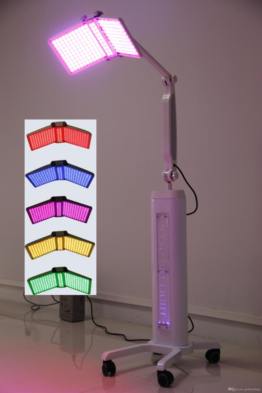 Expédition rapide Professionnel BIO Light PDT thérapie LED Rajeunissement de la peau soin du visage rides élimination de l'acné Beauté Lampe Machine