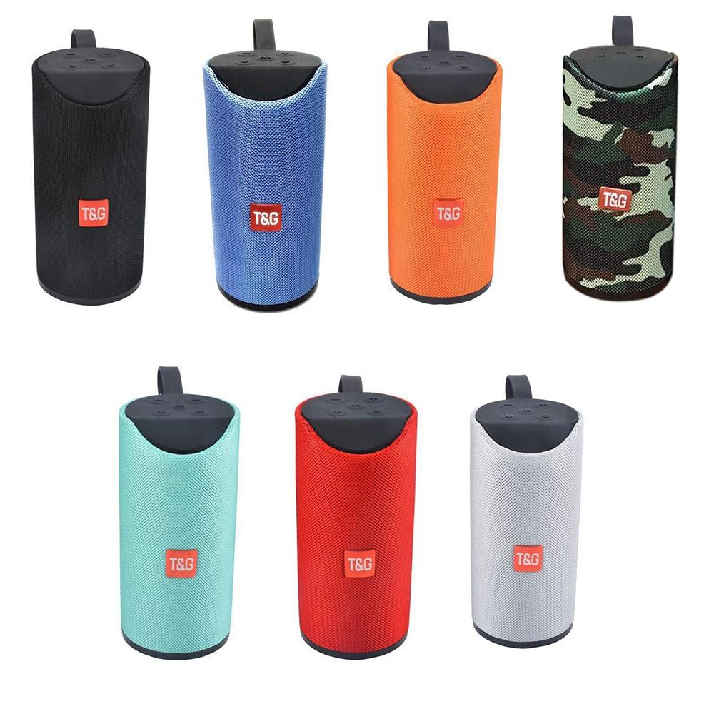 TG113 Bluetooth Speaker Stereo Hifi Speakers with Hand Strap Portable Console TF USB Music Player FM Radio Mic for iPhone Samsung Xiaomi LG