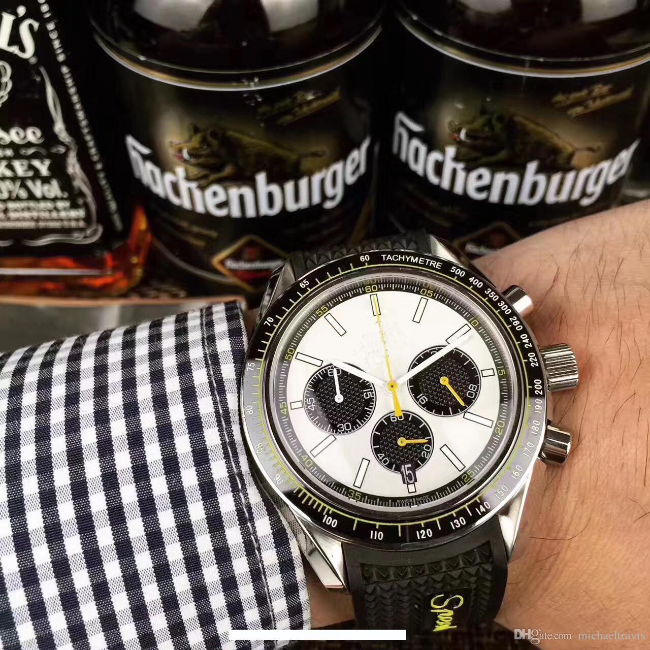 2019 Новые мужские часы Многофункциональный кварцевый хронограф Оригинальный Застежка бутик наручные часы бесплатная доставка