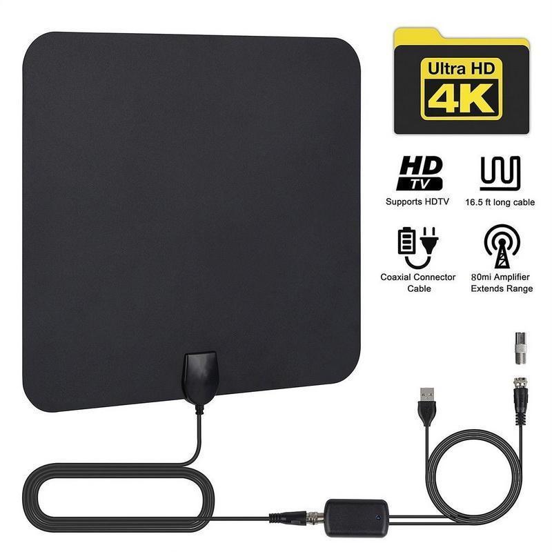 HDTV هوائي هوائيات التلفزيون داخلي أيضا متوافق مع 720P و 1080i، 1080P، ATSC Amplifer الهوائي الرقمية