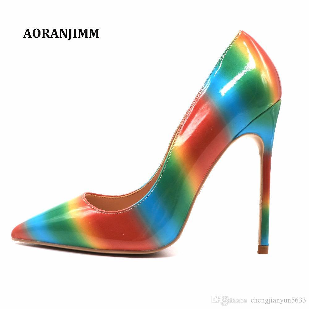 Бесплатная доставка реальный рис красочный ремень радуга женщины леди горячая распродажа 2019 новый стиль лето весна осень обувь насос свадьба