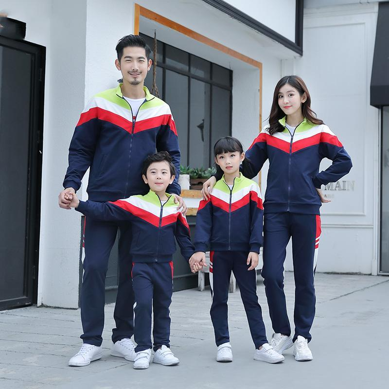 Mother Father Kids Boy Girls Coat + Pants Suits Mom Dad Daughter Son Sports Clothing Sets 2020 Kids Tracksuit Family Match Outfits S630
