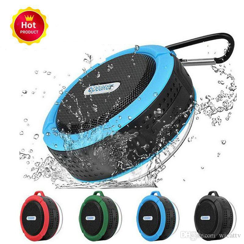 2019 new Bluetooth 3.0 Wireless Speakers Waterproof Shower C6 Speaker with 5W Strong Driver Long Battery Life many colors