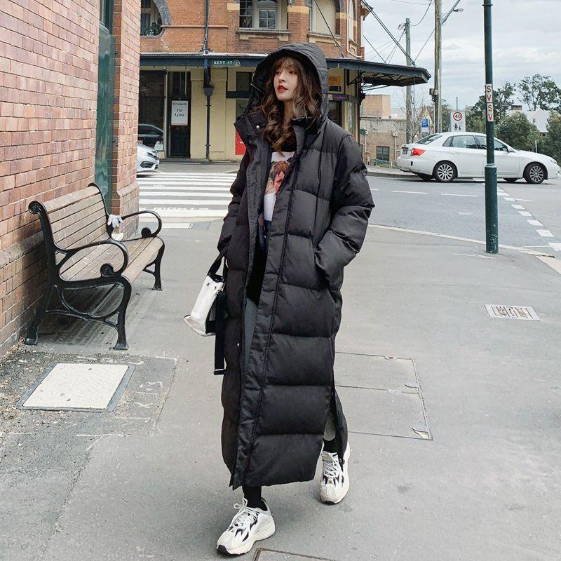Jacket Longo Inverno Parka Hem extra Brasão Maxi X-Long Mulheres Grande Feminino Overcoat Roupa Casacos de algodão para baixo capa Plus Size