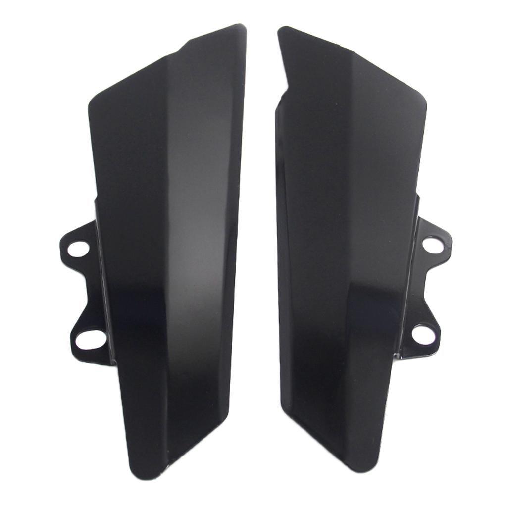 Motorcycle Fairing Parts Left+Right Gas Tank Side Cover Panel Guard for Kawasaki Z900 2017 - Black