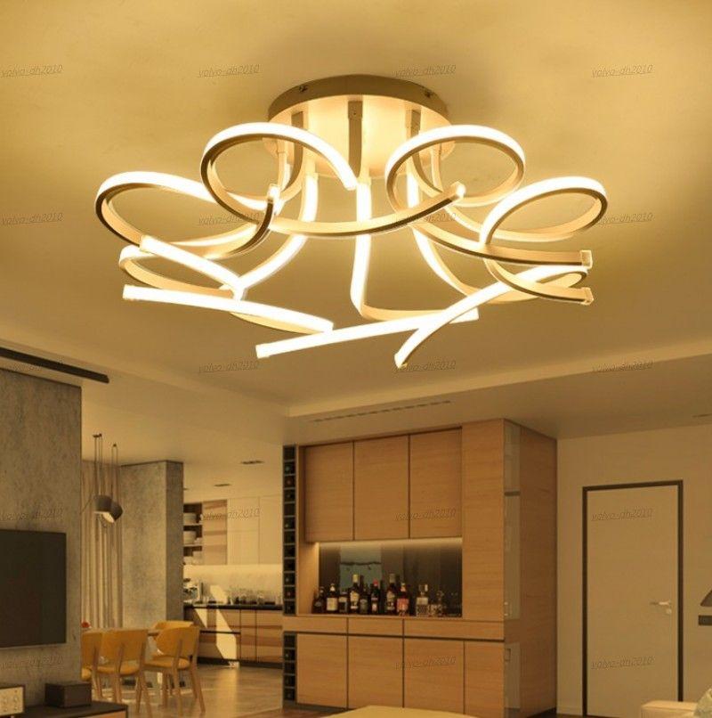 Новый дизайн акриловые Лотос светодиодные потолочные светильники для гостиной Кабинет Спальня Лампе плафона Avīze Indoor Потолочный светильник LLFA