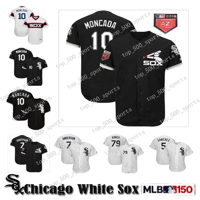 Personalizado Chicago Mens alta qualidade malha Jersey Yoan Moncada Tim Anderson Jose Abreu Yolmer Sanchez Baseball Jerseys