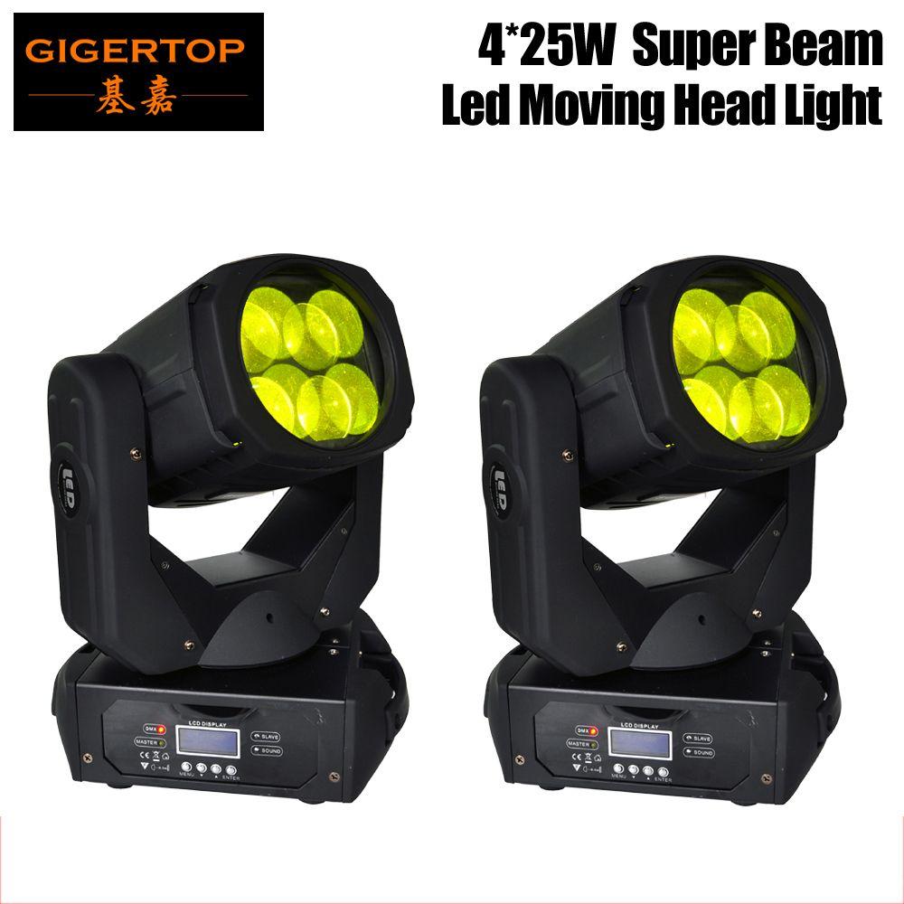 Plus récent 4x25W coloré 130W LED super faisceau mobile Head Light Pour Disco Discothèque Bar DJ Petit faisceau mobile Head Light