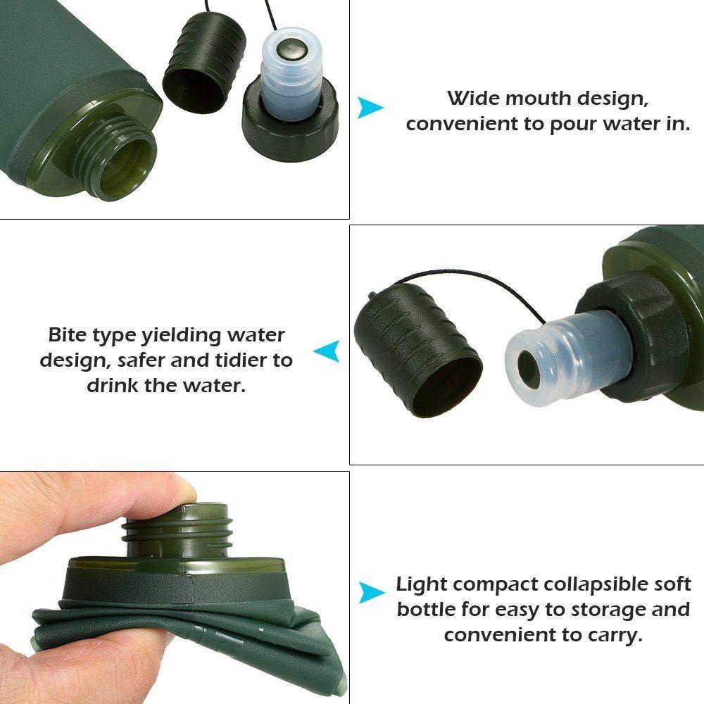 250 мл 500 мл Спорт бутылки воды мешок воды ТПУ мягкий складной фляжка отдых пешие прогулки велосипед мешок воды складной напиток бутылка