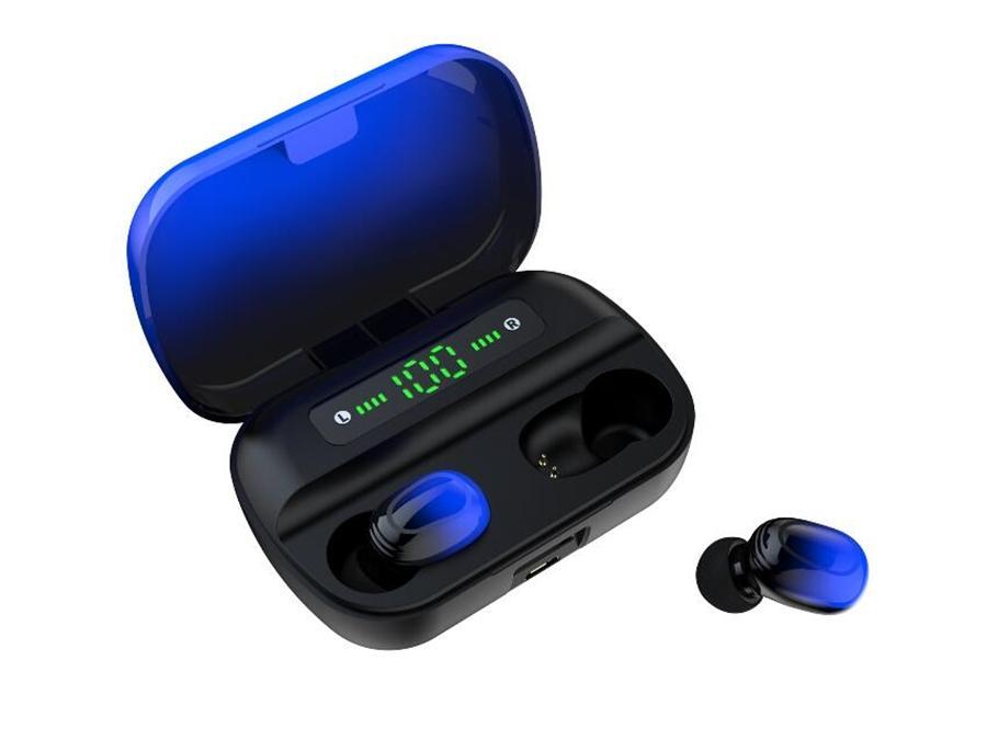 Kablosuz Kulaklık Mikrofon ile Gürültü eleyin Mutlu Kablosuz Bluetooth Kulaklık 5.0 TWS A6 Twins Kulaklık Kulaklık ile Şarj Kutusu Stereo