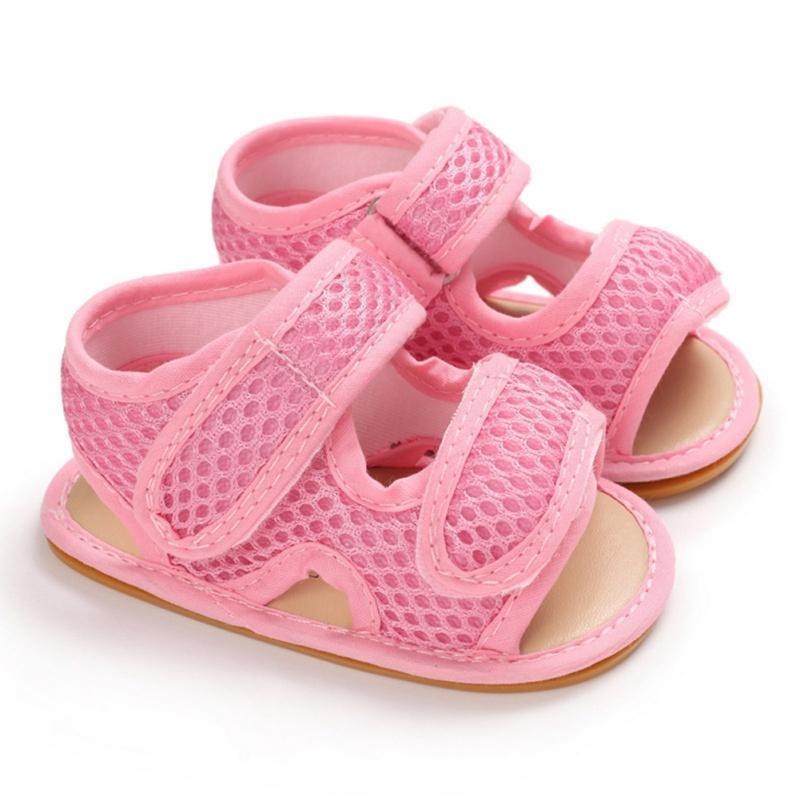 Nouveau-né Enfants d'été respirant Anti-Slip Chaussures enfant en bas âge Sandales garçons Bébés filles Soled Premier marcheurs doux Nouvelle arrivée