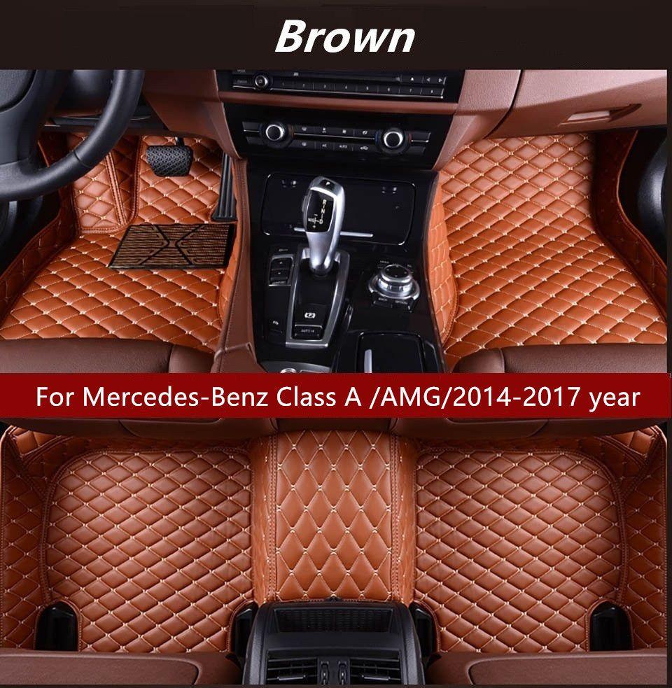 Mercedes Clase a 2018 en-Deluxe Alfombra de goma Totalmente a Medida Coche Tapetes