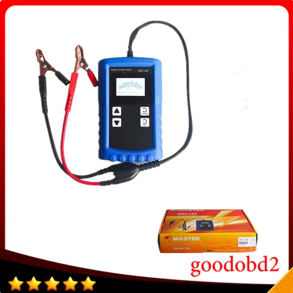 Araç oto Elektrik Devresi Tester Aracı Güçlü Fonksiyon MST168 Oto Tester ile MST168 Taşınabilir 12V Dijital Pil Analiz