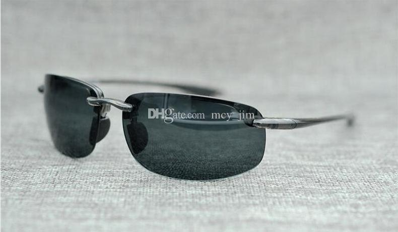Brand Jim Mcy With 407 Driving High Quality Polarized Case Lens Designer Women Men Sunglasses Sunglasses Rimless Sugtf