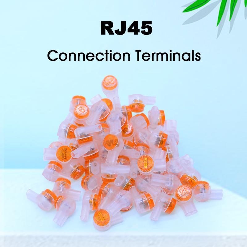 150PCS مكتب كمبيوتر / كيس موصل RJ45 تجعيد محطات اتصال K1 موصل للماء الهاتف الأسلاك كابل إيثرنت