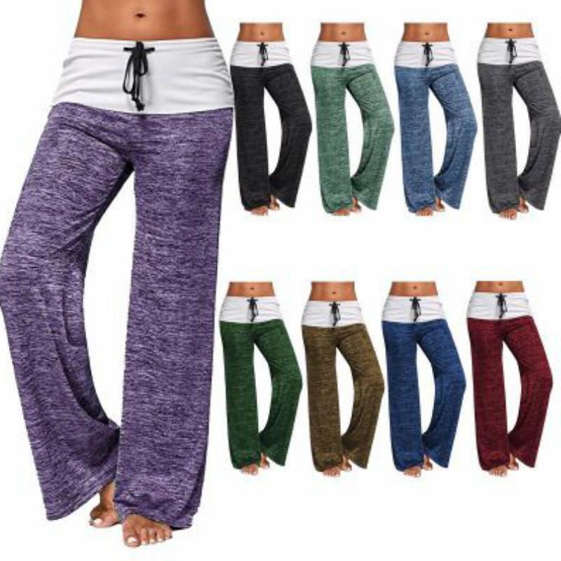 Womens Pantalon de yoga Designer Casual Luxury Outdoor active Sweatpants Pantalon jambe large avec cordon de serrage Marque 2020 Vêtements en gros
