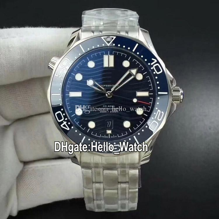 BF New Luxury Dive 210.30.42.20.03.001 Cal.8800 Automatik Herren-Uhr-Blau Ripple Dial Datum blaue Keramik Lünette SS-Stahlband Hello_Watch