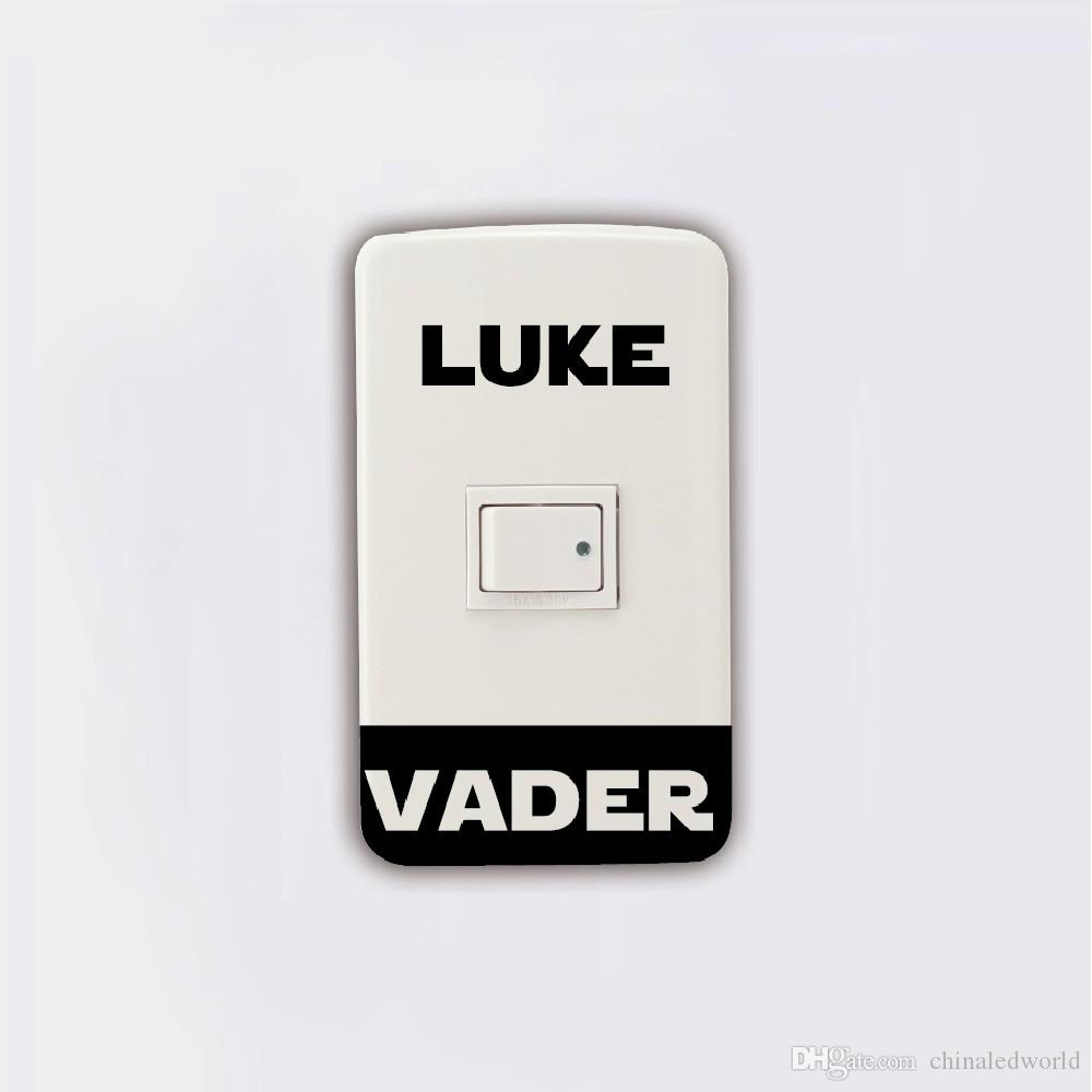Light Switch Sticker Darth Vader Luke Skywalker Vinyl Wall Mural Home Decor