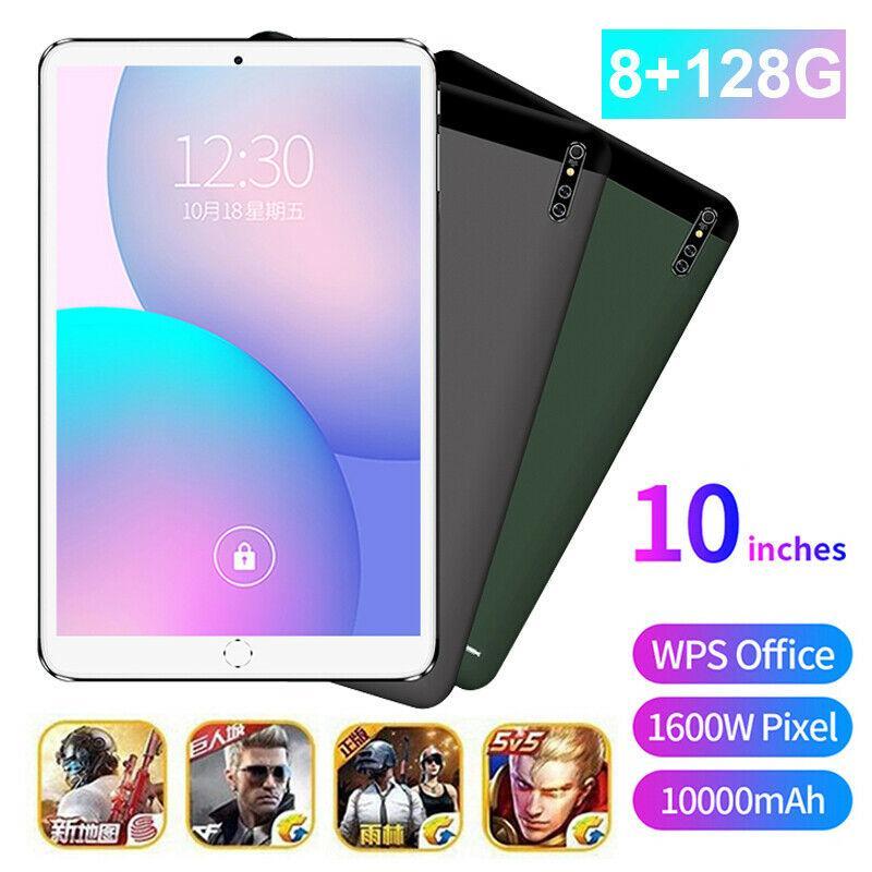 "10"" 4G 8+128GB Tablet PC 10 core Android 10.0 WIFI Dual SIM Triple Camera"