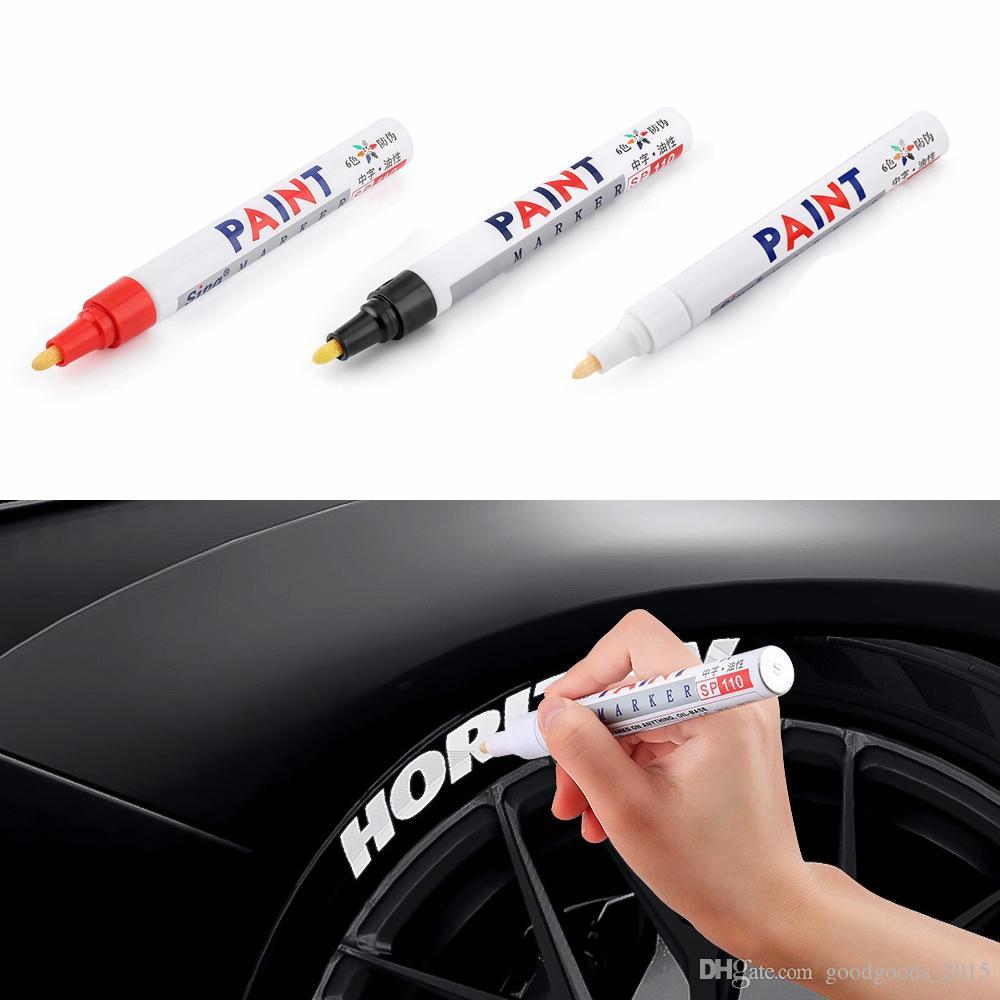 لون القلم مجموعة ماء المطاط الطلاء الدائم ماركر القلم سيارة الإطارات فقي الإطارات البيئية الطلاء ماركر DLH208
