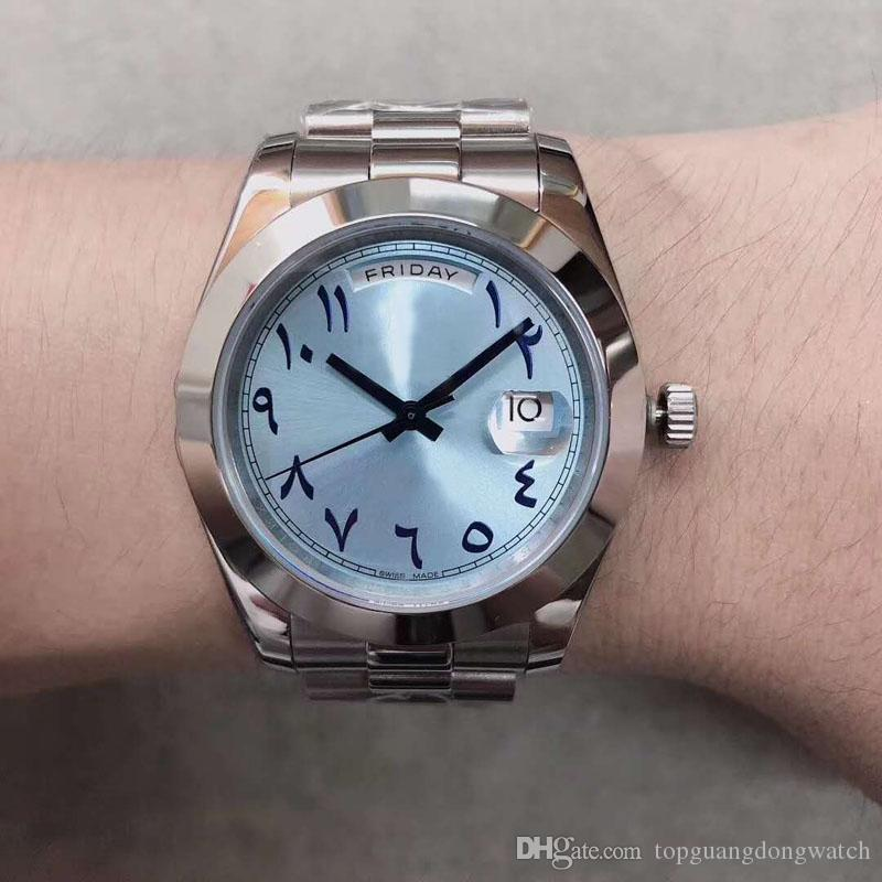 Luxury Men's Watch 228206 High Quality Day 40MM Date Ice Blue Dial 316 Stainless Steel Belt Fashion Gentleman Watch 30M Waterproof