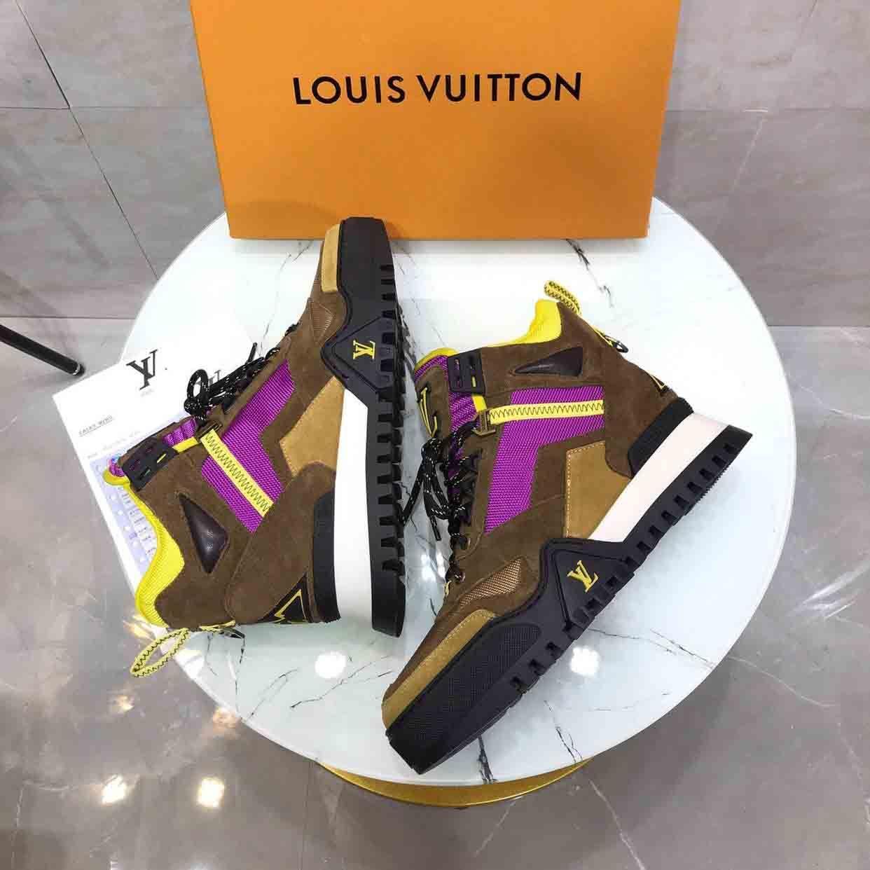 2020 zapatillas deporte lujo cáqui malha high top formadores antiderrapante único de design exterior marcas de luxo corrida a pé sneakers # 1F