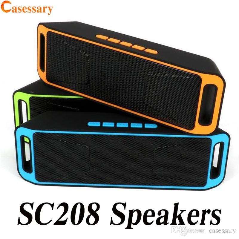 SC208 البسيطة المحمولة سماعات بلوتوث اللاسلكية المتحدث بصوت عال مشغل موسيقى كبير مضخم الصوت دعم tf usb راديو fm حزمة البيع بالتجزئة