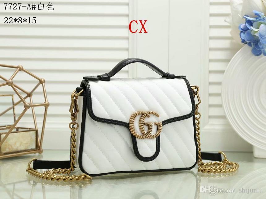 2020 heiße Verkaufsfrauen Designer-Handtaschen diagonaler Kurier Schulterbeutel-Kettenbeutel gute Qualität PU-Leder Geldbörsen Damen Handtasche 10 Mappen