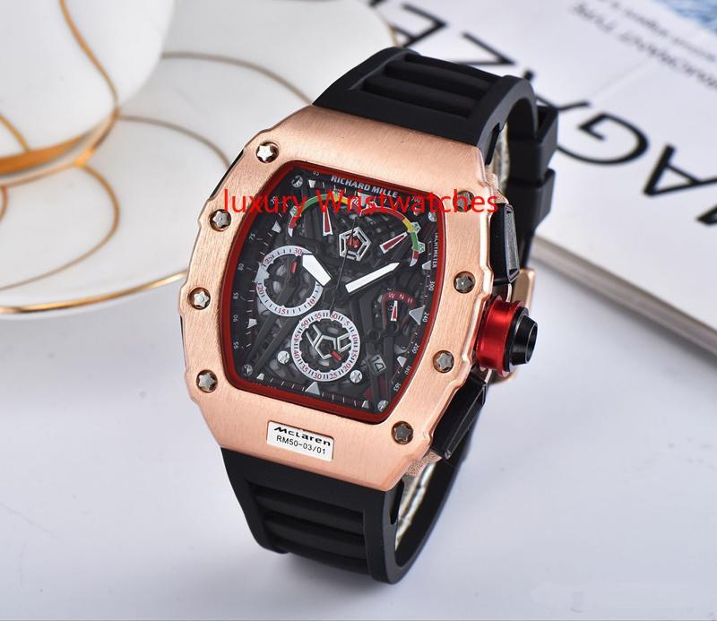 AA3A Mens Relojes de Primeras Marcas de Lujo Reloj de Cuarzo Hombres Casual banda de goma Militar Impermeable Deporte Reloj de pulsera de acero inoxidable relojes